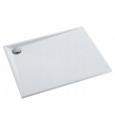 Nízka sprchová vanička 80x100x3 cm, akrylová, biela matná