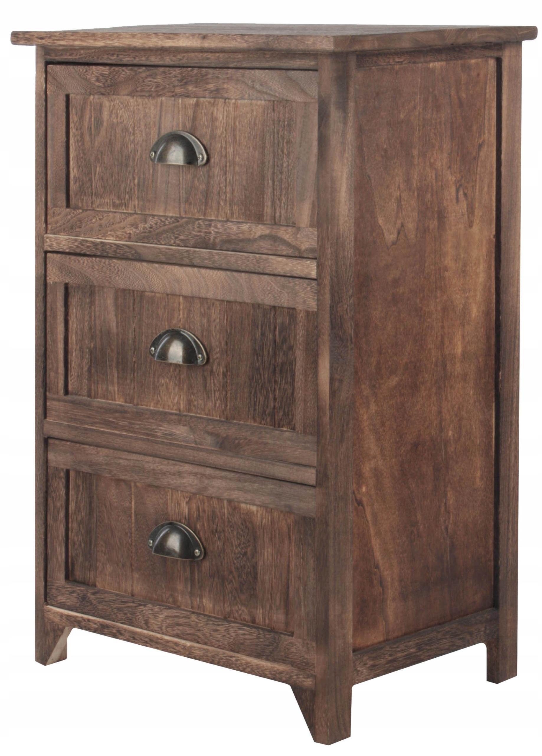 K60 nočnom stolíku NOČNÝ stolík toaletný stolík VINTAGE BROWN