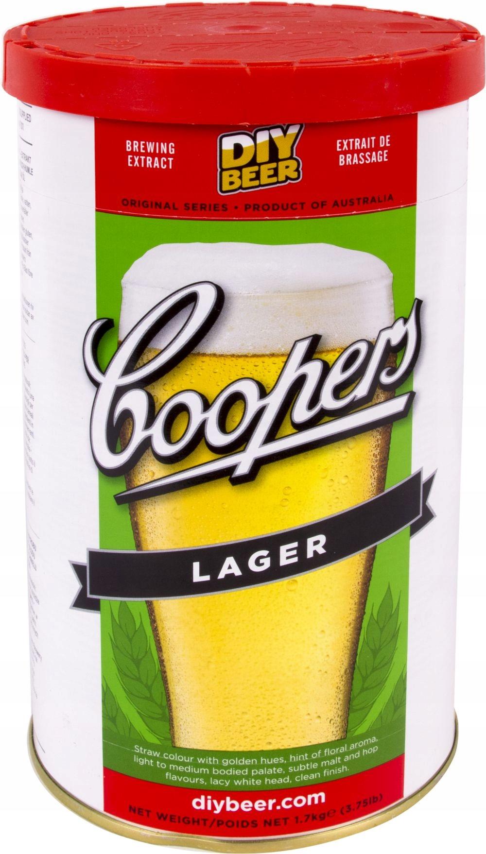 ПИВО ДОМАШНЕЕ Coopers LAGER 23L пивоваренный набор + дрожжи
