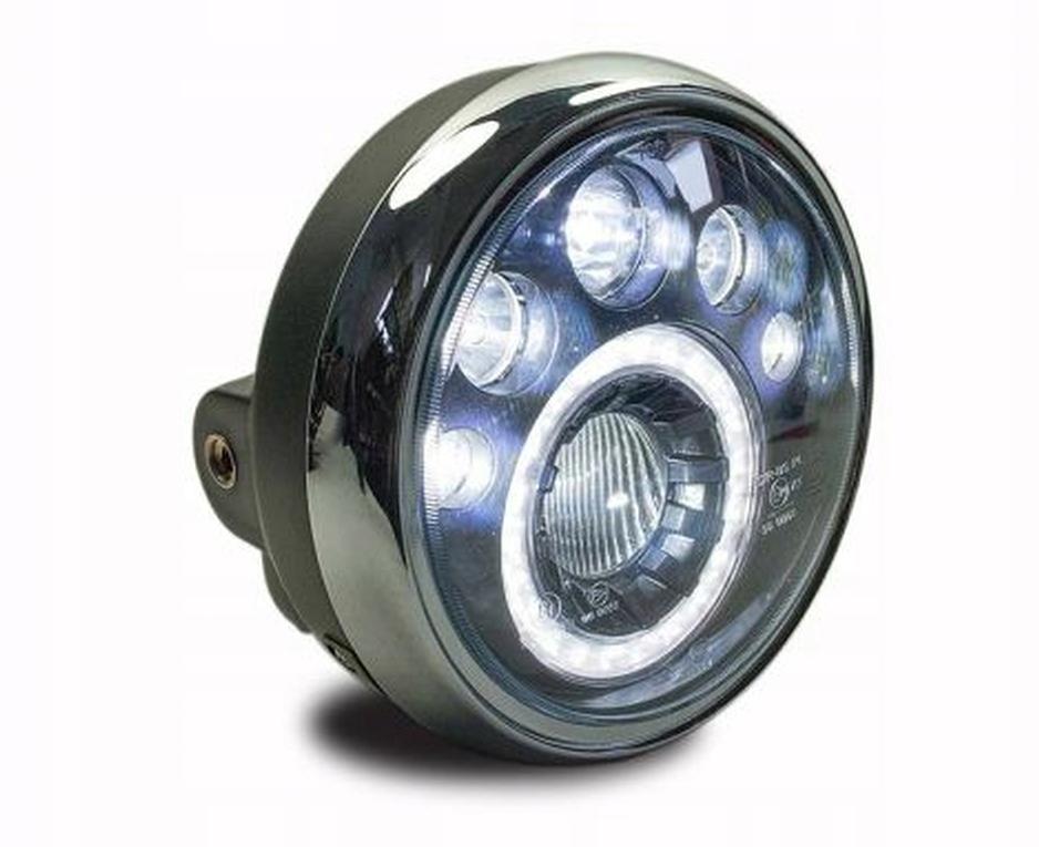 REFLEKTOR LAMPA LED PRZÓD MOTOCYKL HOMOLOGACJA