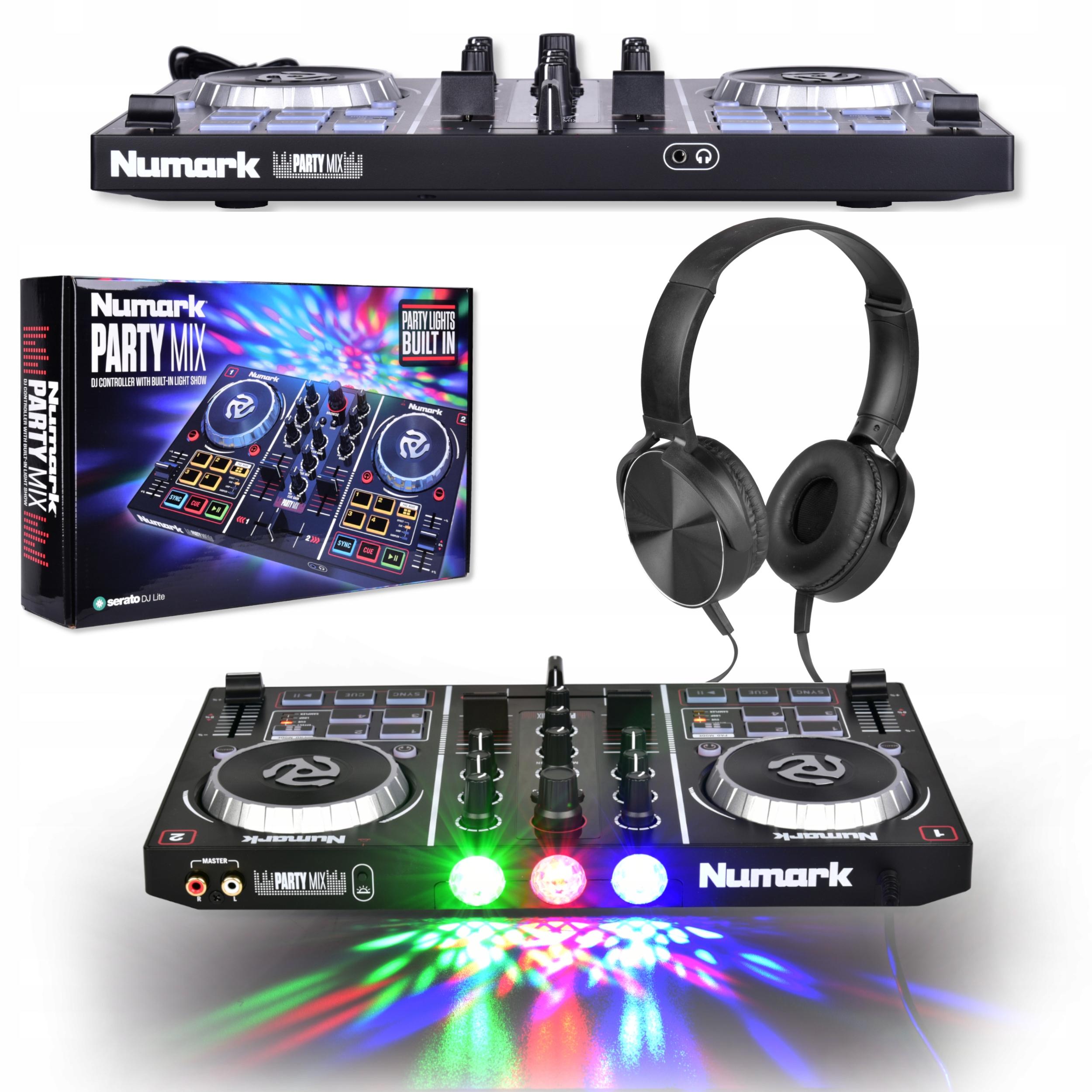 Item PARTY MIX NUMARK DJ CONTROLLER MIXER + HEADPHONES