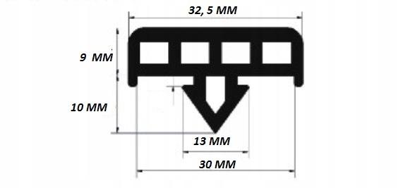 USZCZELKA DO CEOWNIKA 30X30 mm 50 mb PCW