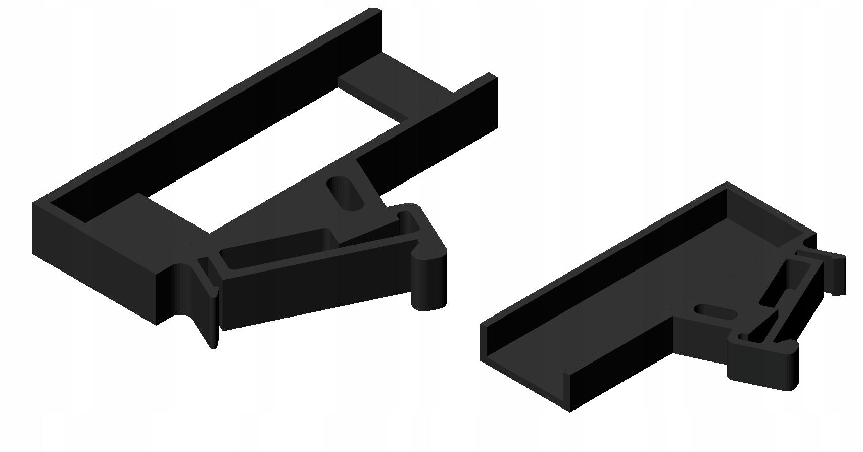 Uchwyt WAGO 852-111 Ethernet Switch DIN Rail BLACK