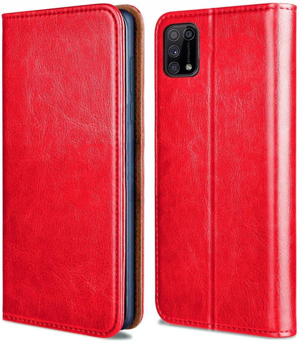 Etui do Samsung Galaxy M31S Skórzane Portfel Szkło