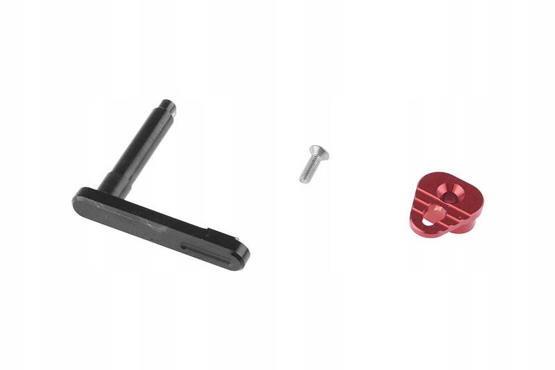 Tlačidlo na uvoľnenie zásobníka pre repliky M4 (B) - červené