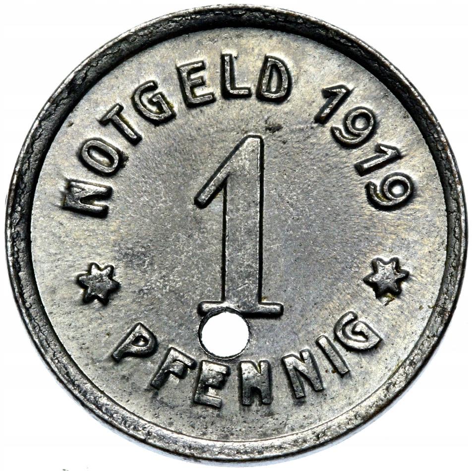 + Greifferg Gryfów Śląski 1 Pfennig 1919 Žehlička