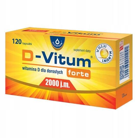 D-VITUM Forte witamina D 2000 j.m. 120 kapsułek