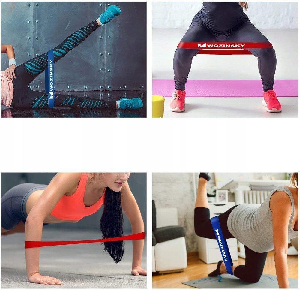 Taśmy Gumy oporowe do ćwiczeń joga fitness Kolor dominujący wielokolorowy