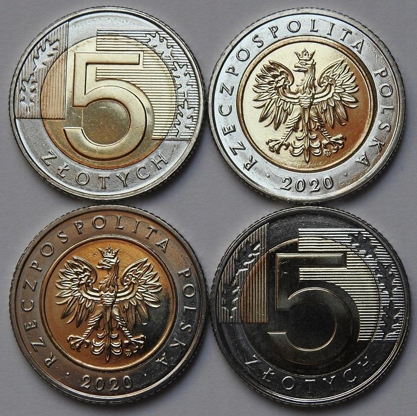 5 zł złotych 2020 mennicza mennicze