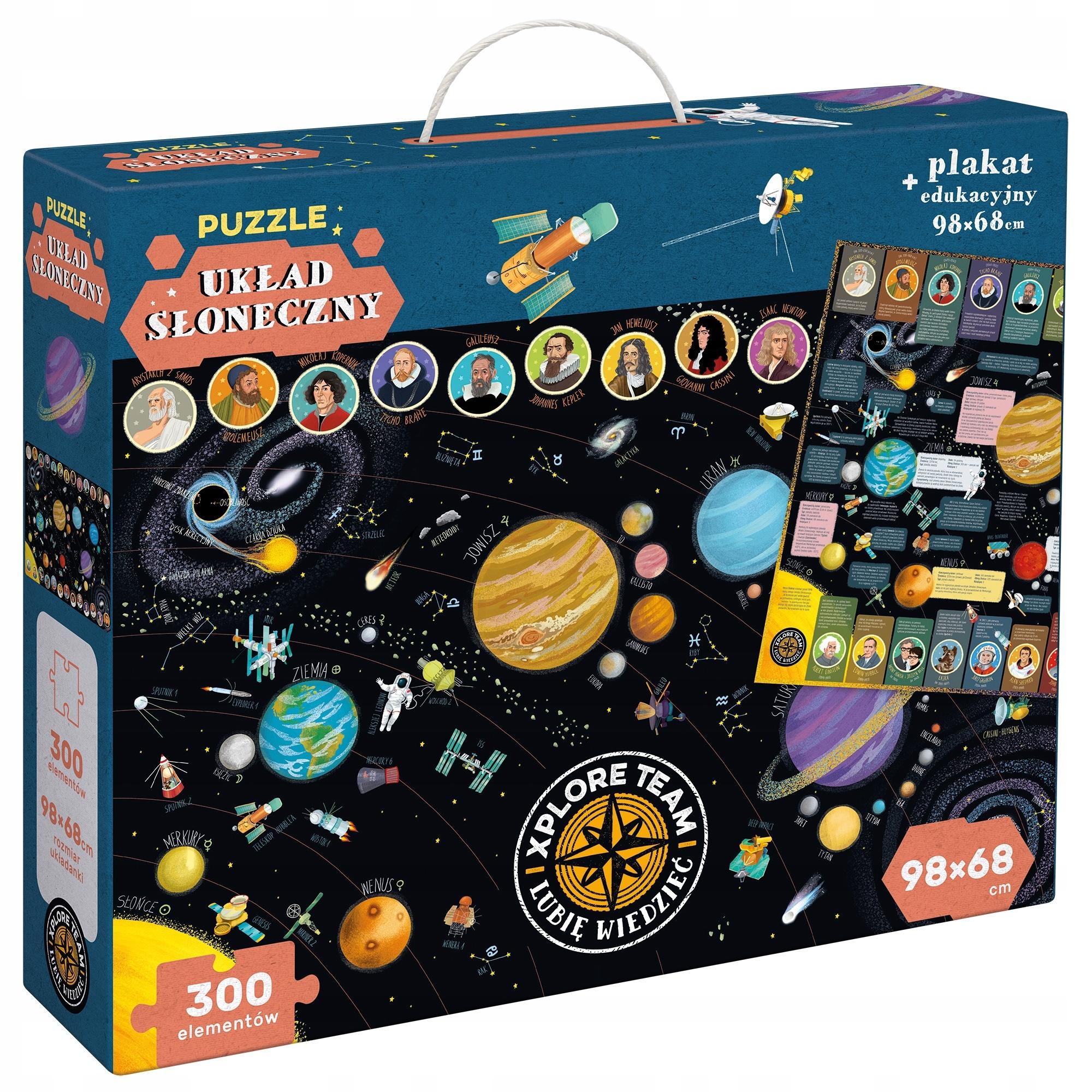 Puzzle pre slnečnú sústavu 300 kusov Czuczu Cosmos