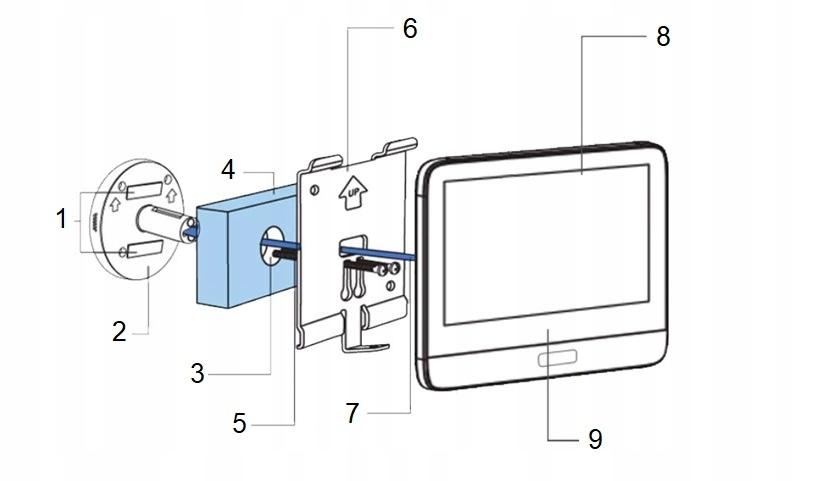 Wizjer Video do drzwi 5TECH WiFi Aplikacja Tuya EAN 8400920203260