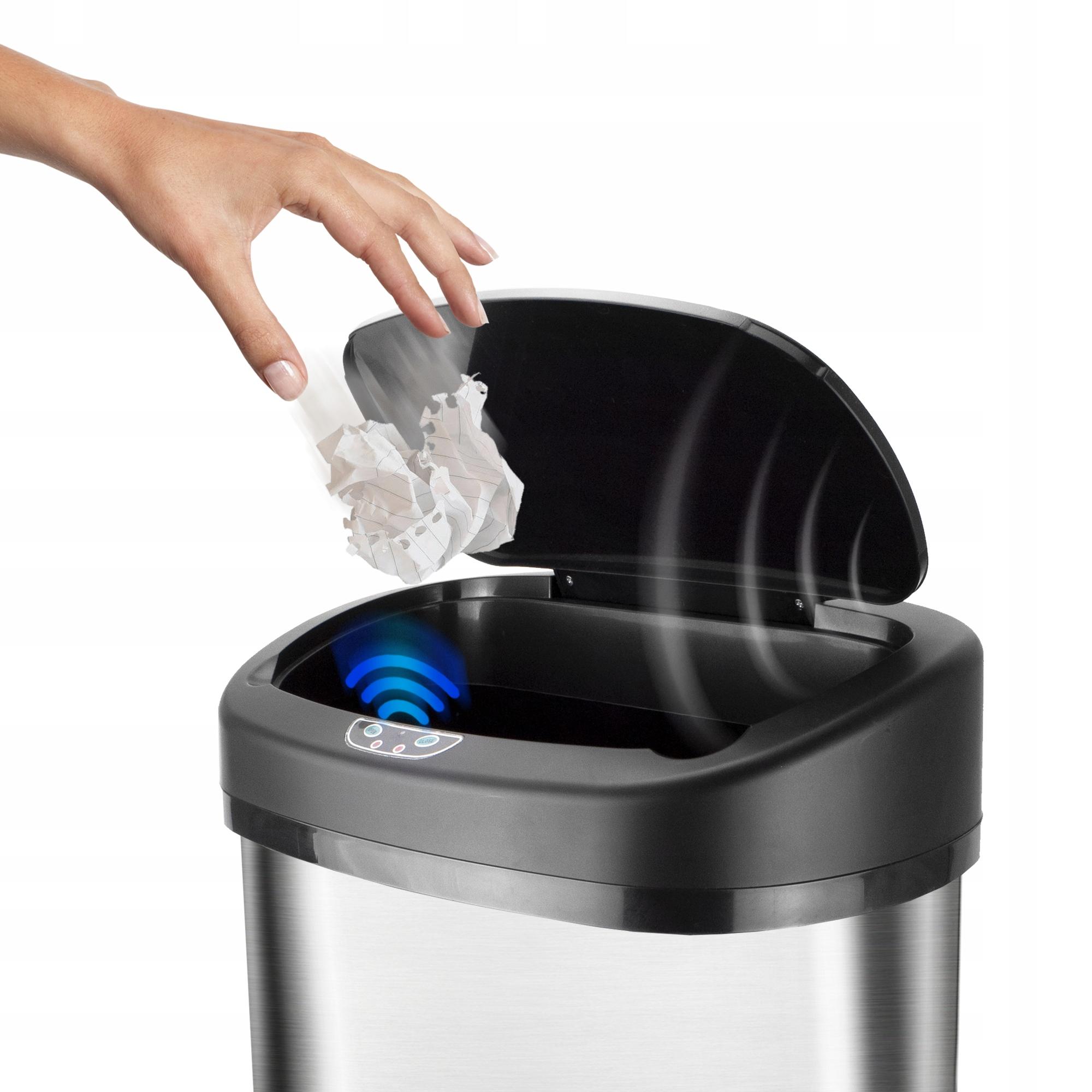 Automatyczny kosz na śmieci stal Higieniczny 38L