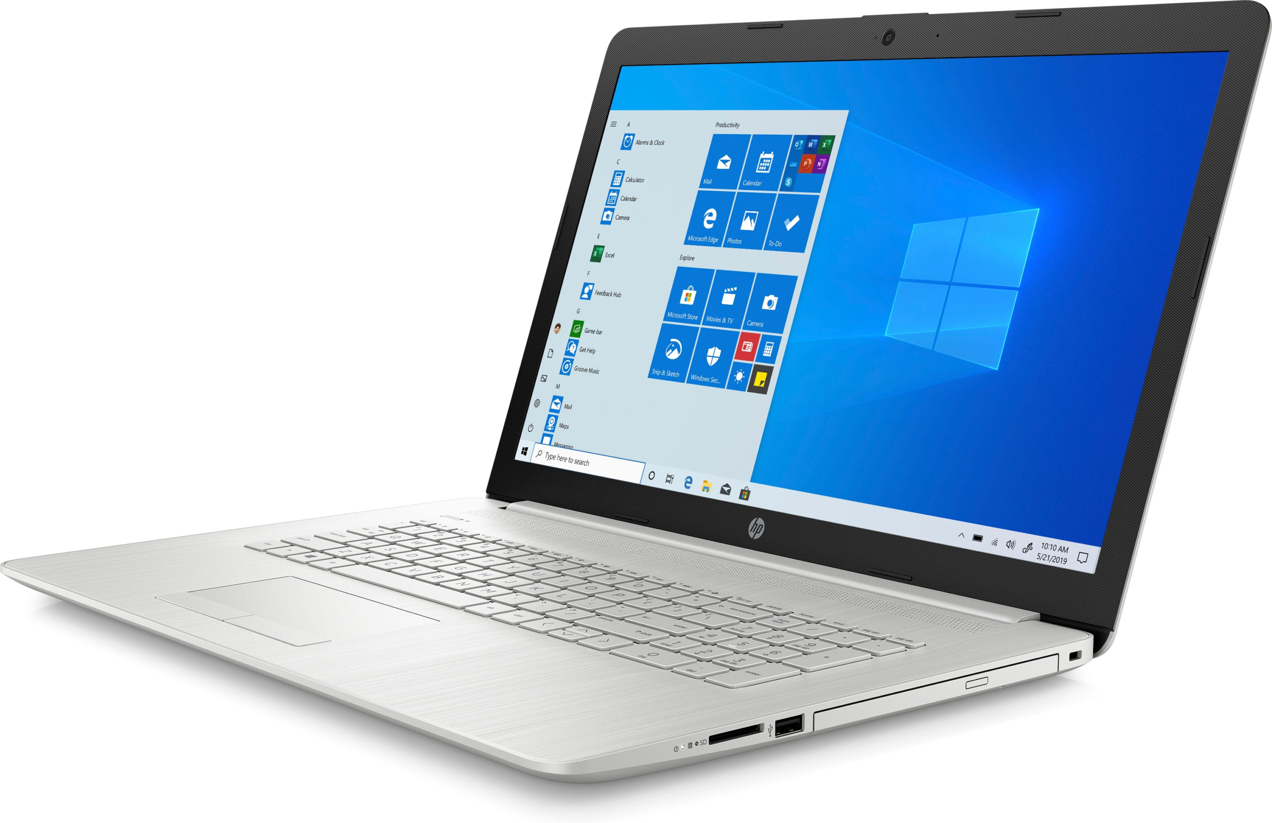 SREBRNY Laptop HP 17'' i5 10GEN 8GB 128SSD 1TB W10