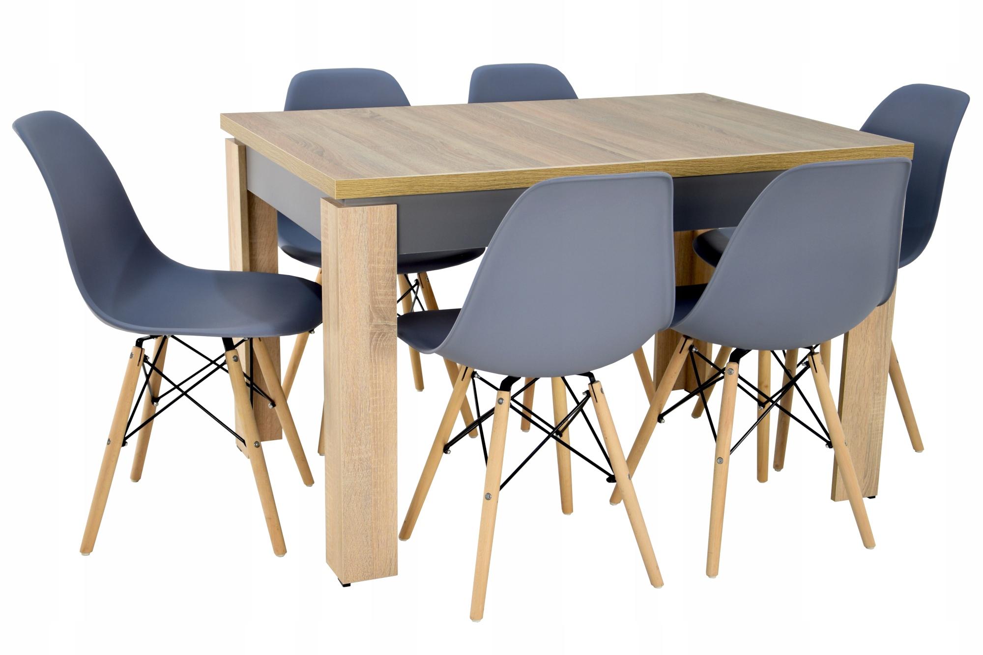 Раздвижной стол SONOMA и 6 стульев для гостиной