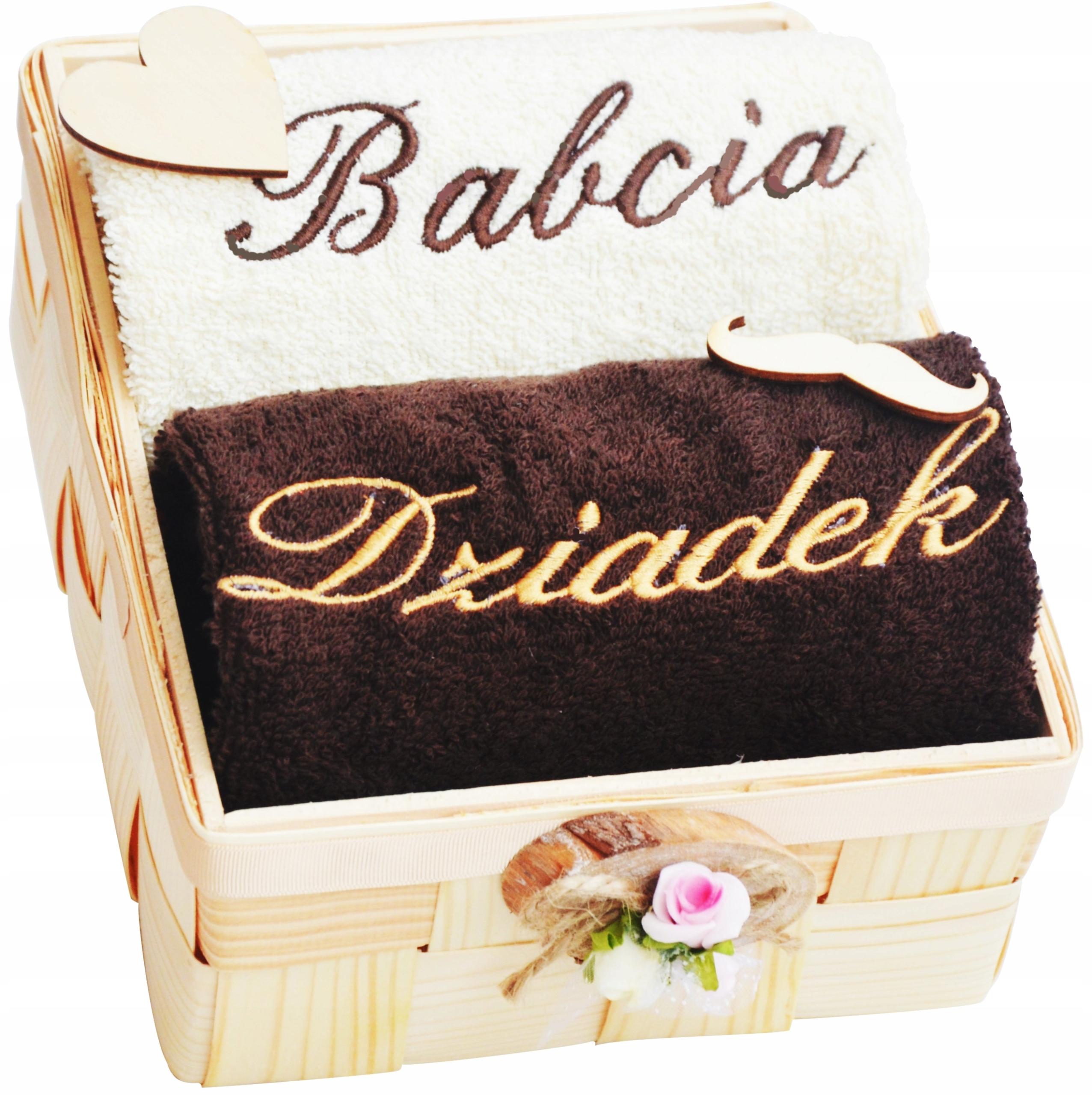 Ręczniki z Haftem Prezent dla Babci i Dziadka