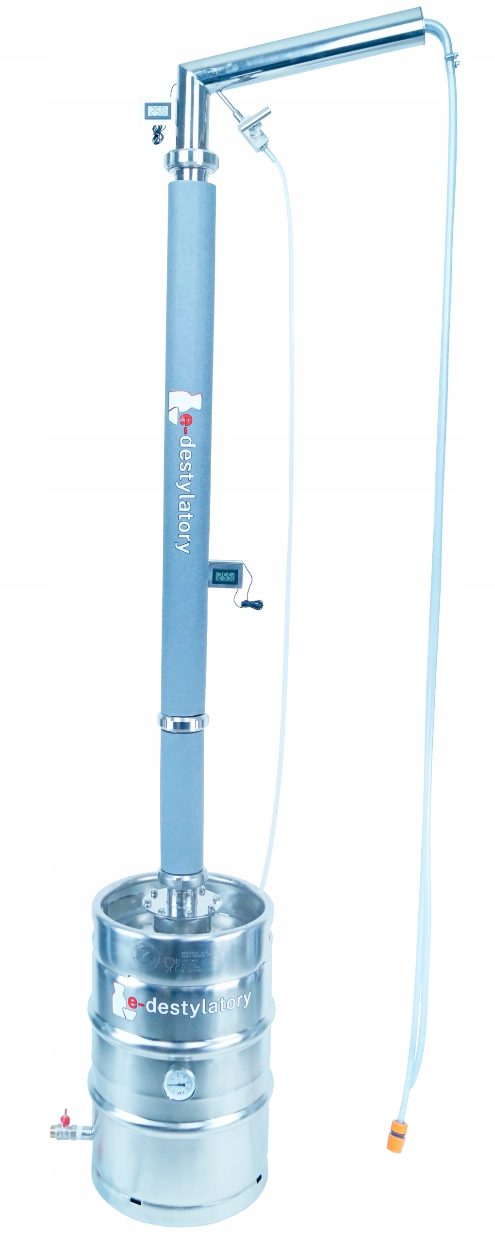 Destylator Gazowy Aabratek KEG 50l wypełnienie SMS