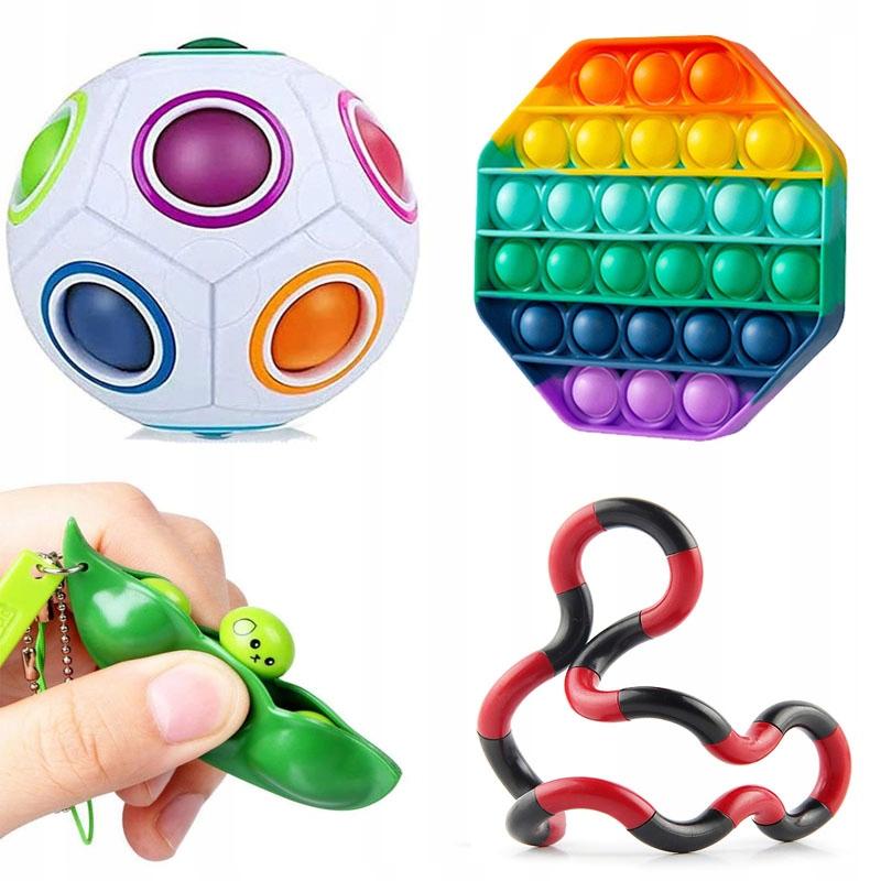 Набор мягких мягких игрушек для снятия стресса x4