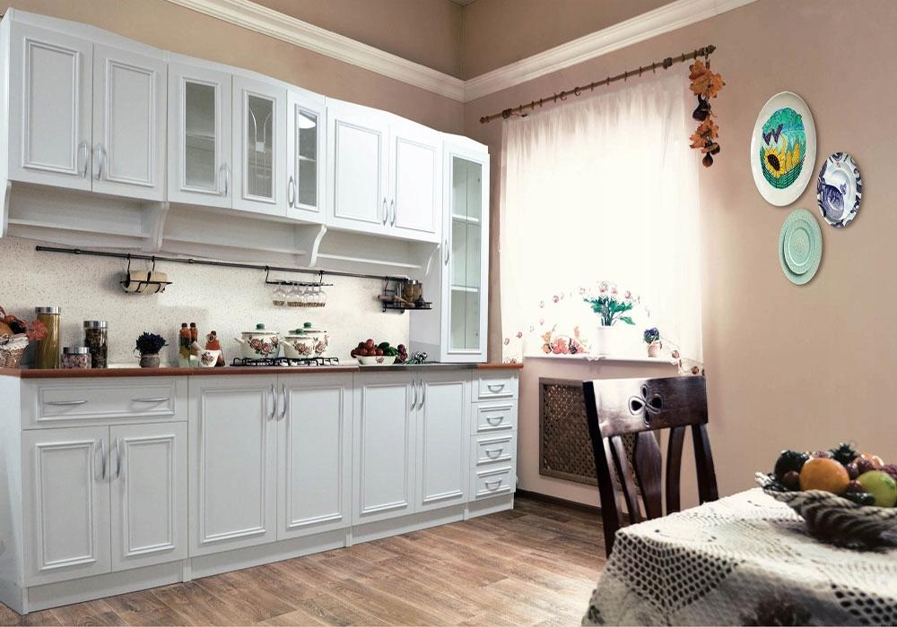 Kuchnia OLEK 260cm meble kuchenne biały