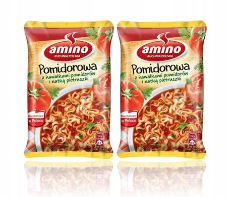 2 х 61 г томатный суп быстрого приготовления AMINO