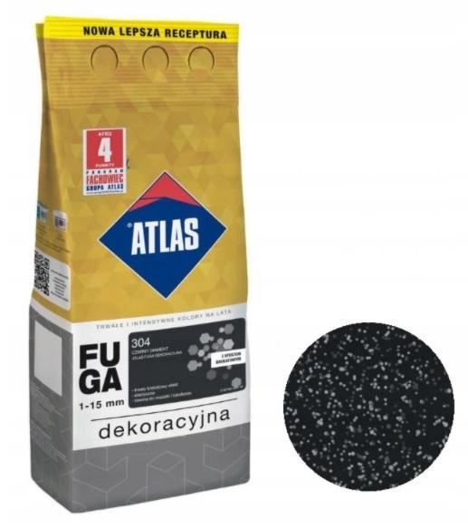 ATLAS FUGA DEKORACYJNA BROKAT 2kg-304 CZARNY DIAM.