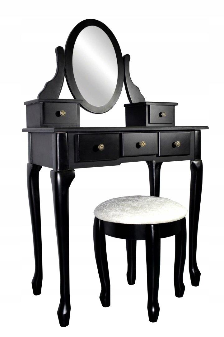 Косметический комод ЧЕРНЫЙ Зеркало большое Табурет Глубина мебели 40 см.