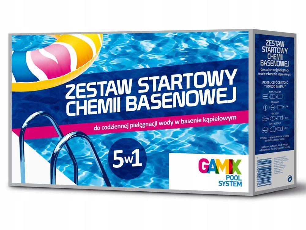 Стартовый набор 5 в 1 химия для бассейна CHLOR SWIMMING POOL