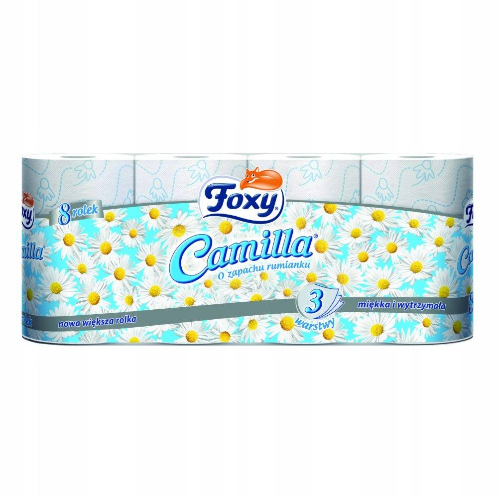 Papier Toaletowy Foxy 8szt. CAMILLA RUMIANKOWY