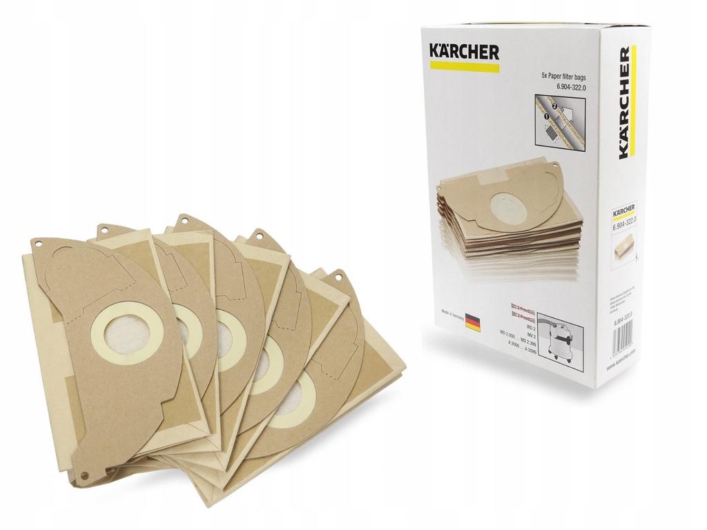 Originálne vrecká pre vysávač KARCHER WD2 5 ks
