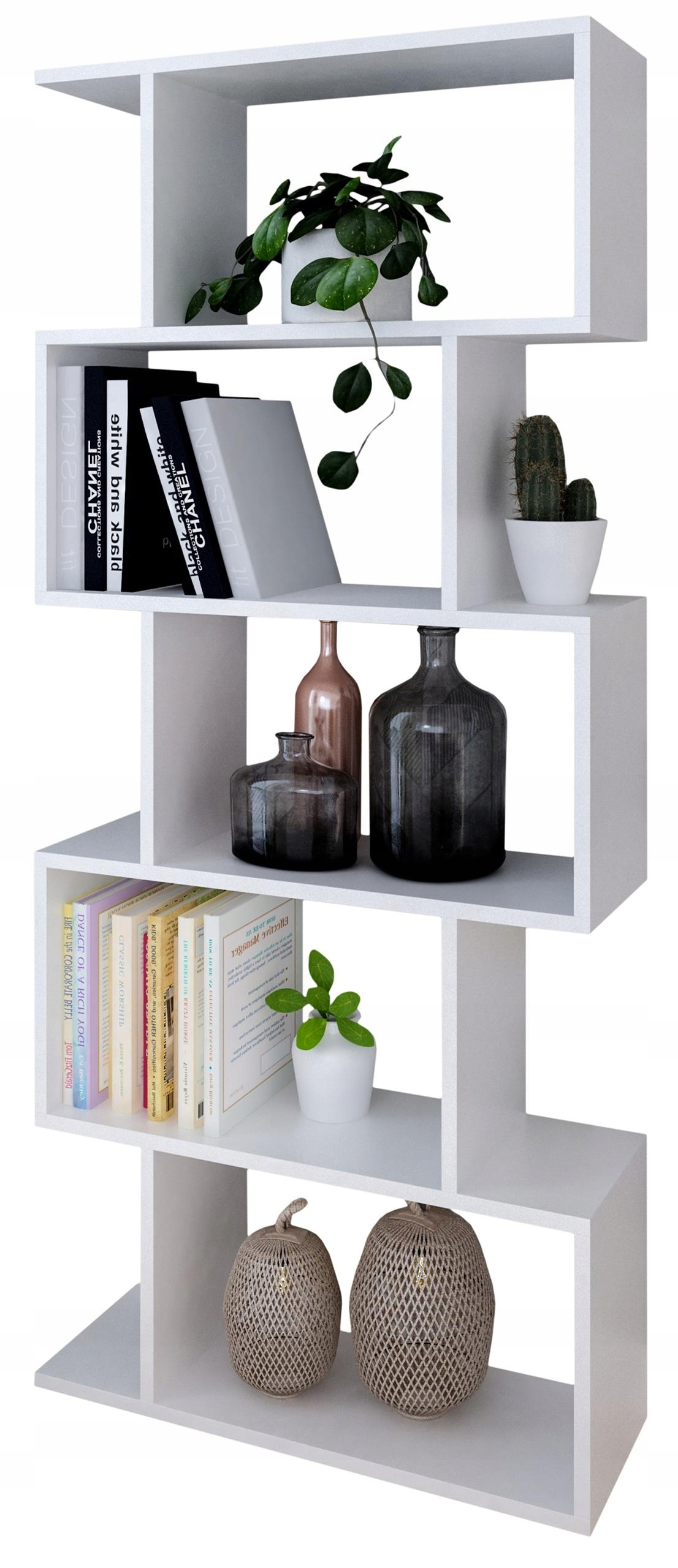 Regał BASK biały otwarty szafka półka na książki