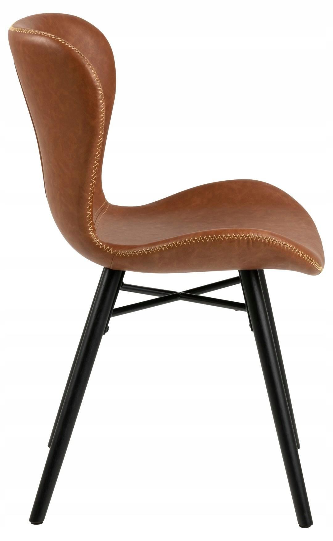 Batilda Retro stolička brandy / čierne nohy