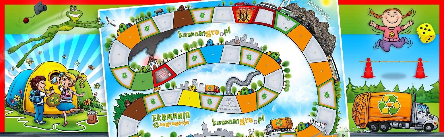 eko gra planszowa dla dzieci EKOMANIA segregacja Płeć Chłopcy
