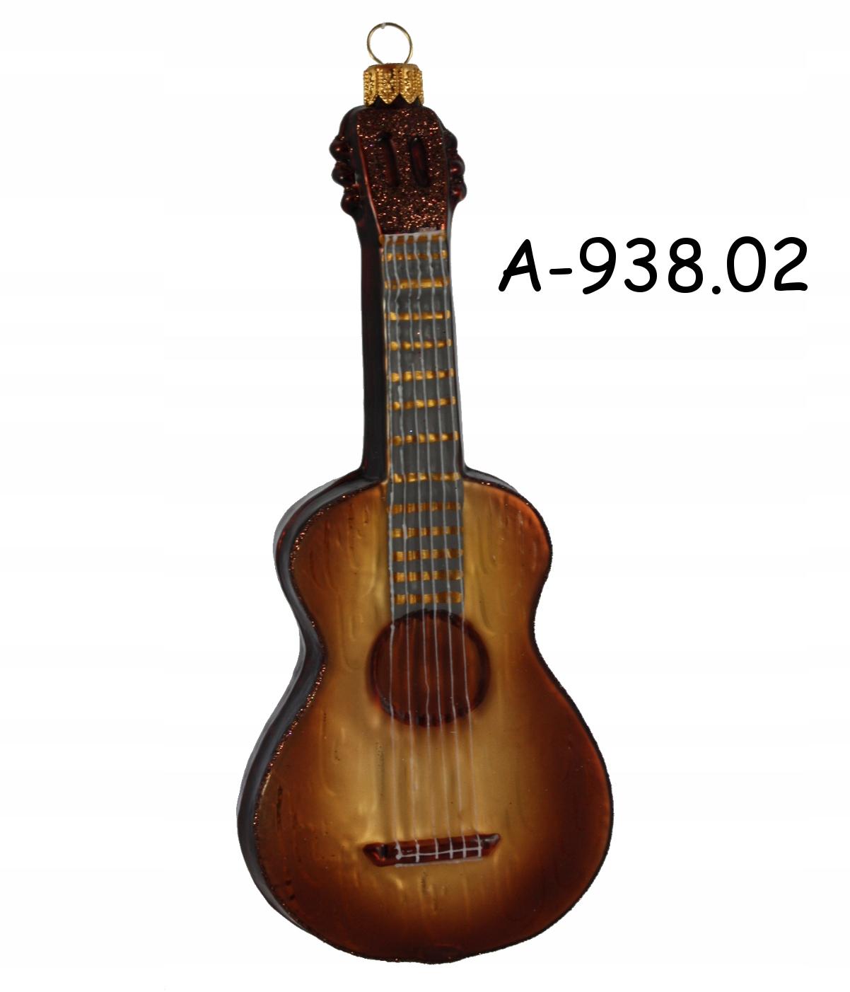 Sklenená figúrka na gitarový ornament