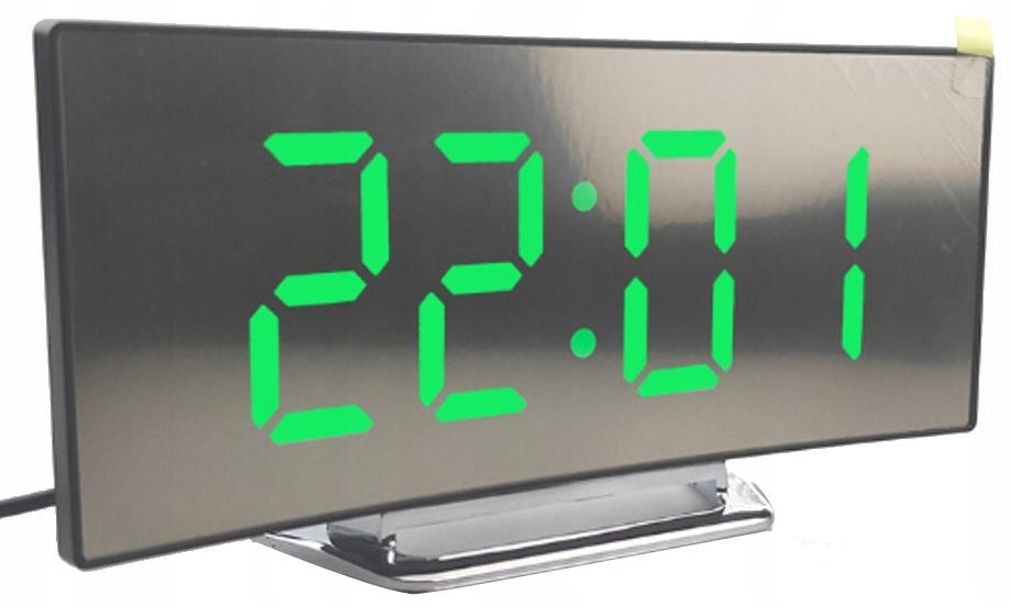 Цифровой светодиодный зеркало термометр будильник Будильник