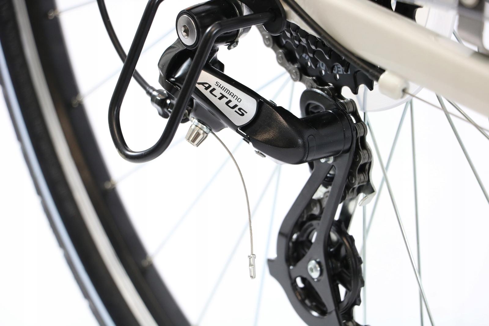 ROWER TREKKINGOWY DAMSKI MĘSKI SHIMANO 28 ALU Hamulce V-brake