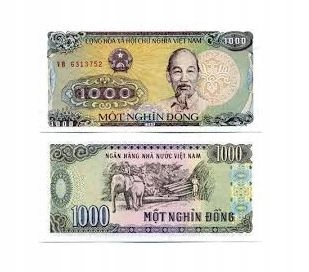 ВЬЕТНАМСКАЯ БАНКНОТА 1000 ДОНГ 1988 UNC