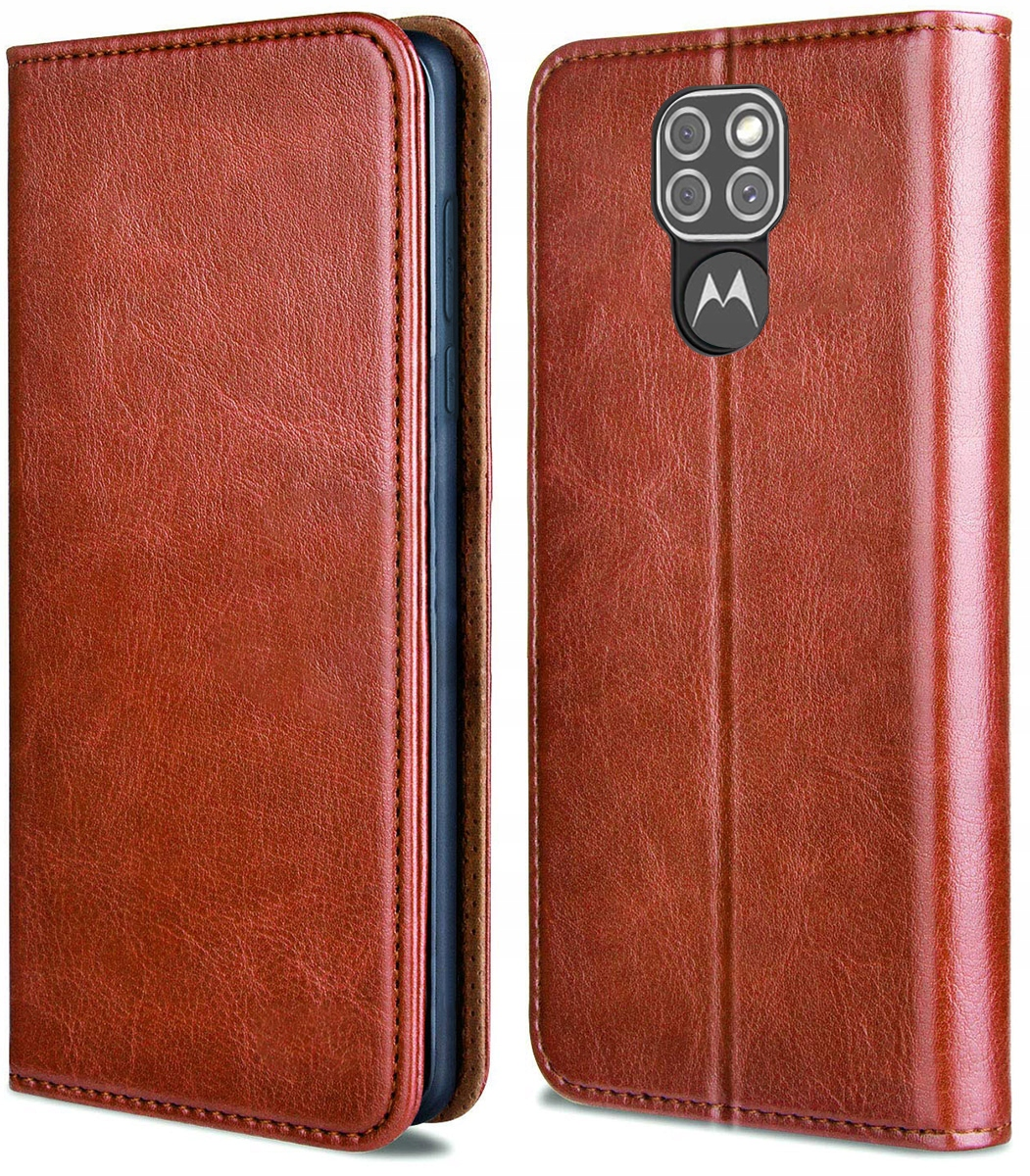 Etui do Motorola Moto G9 Play Skórzane Case Szkło