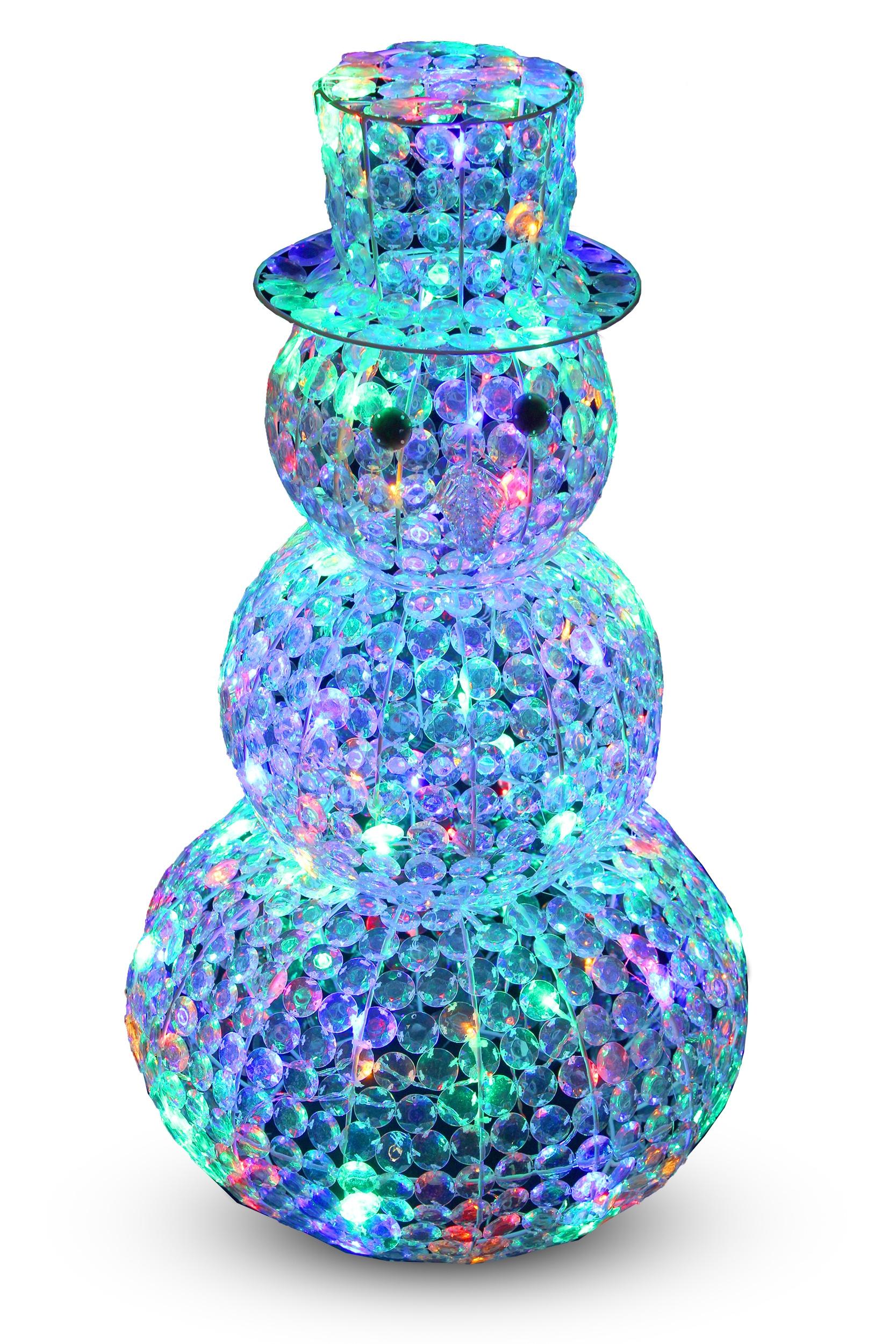 Dekorácie Vianočné Snehuliak 120LED 90 CM CH08 EAN 59