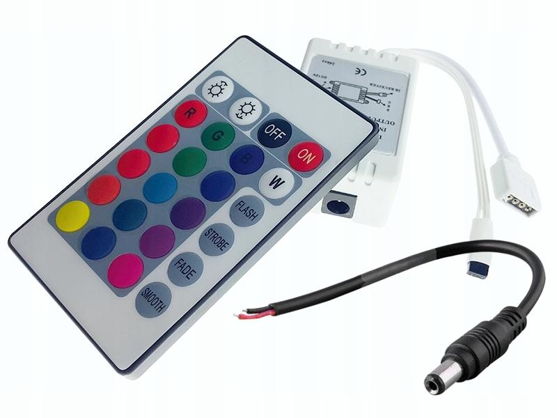 Контроллер LED RGB driver 72W 6A пульт IR 24p