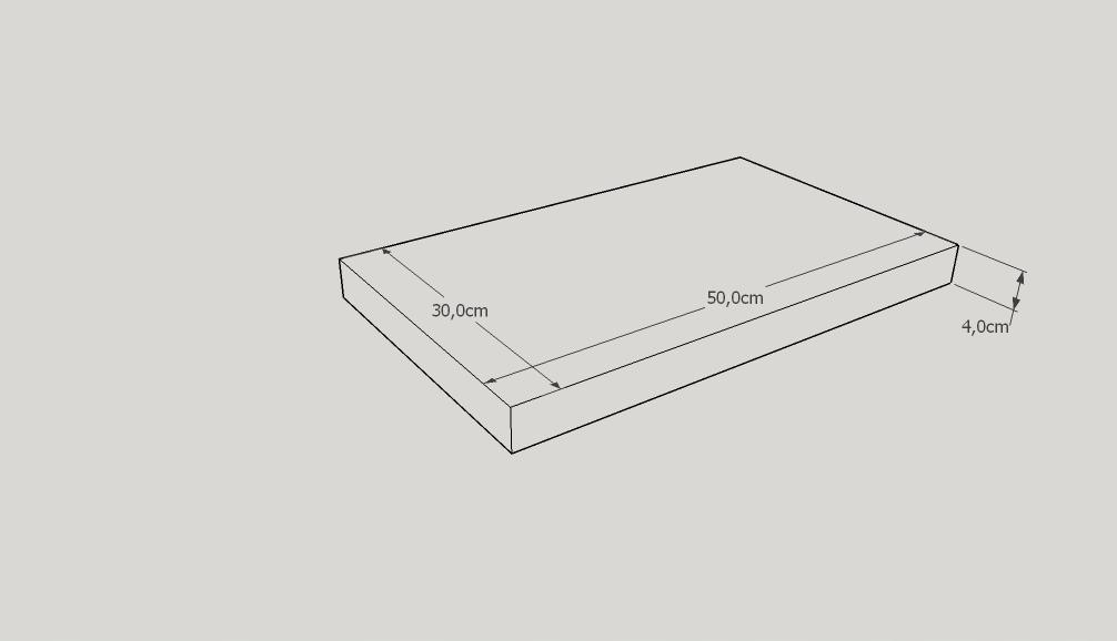 Deska do krojenia drewniana duża 50/30/4 dębowa Kod produktu D50/30