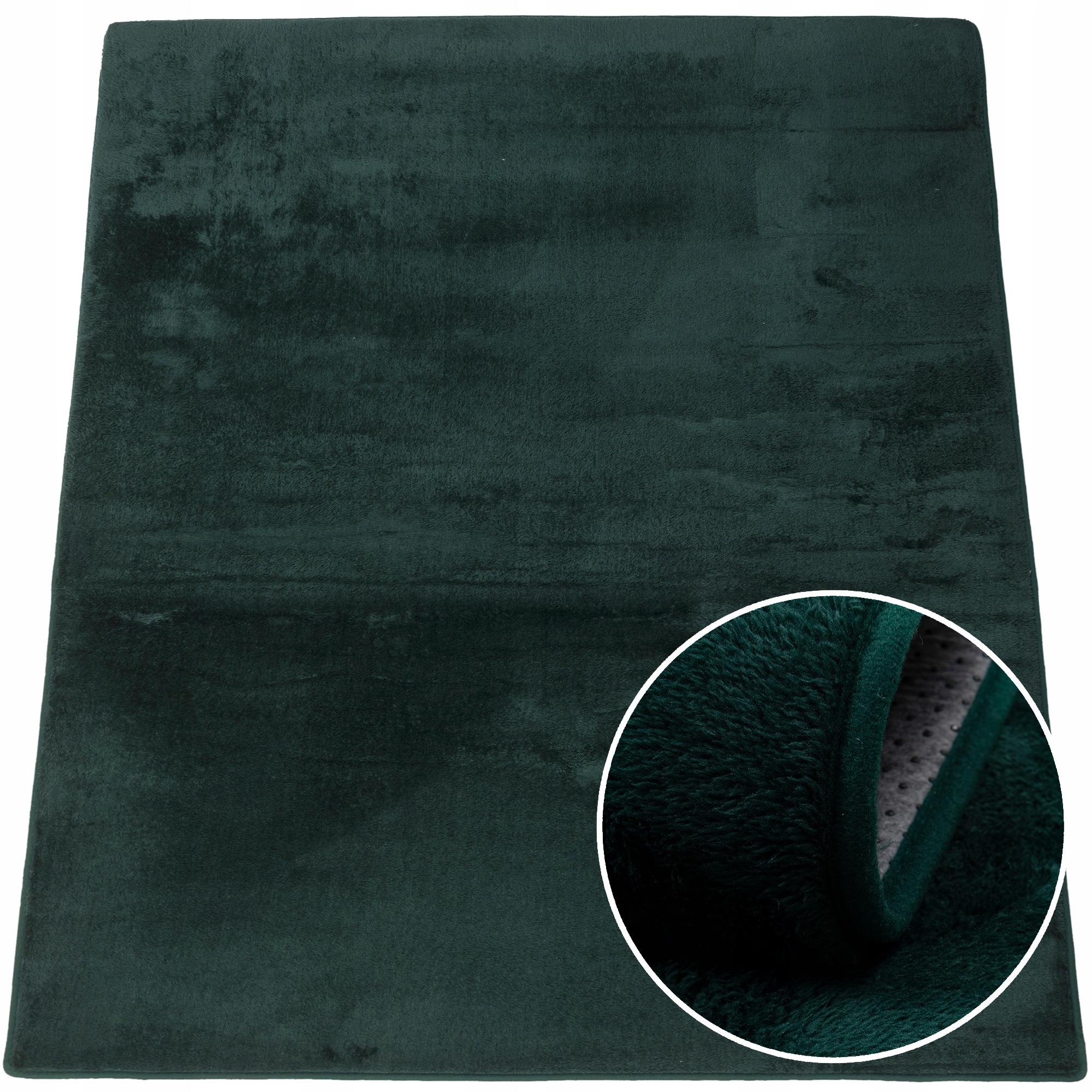 Dywan miękki pluszowy nowoczesny 60x100 cm Zielony