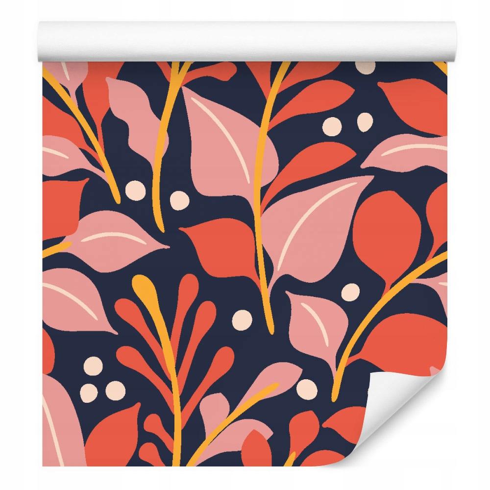 10m TAPETA retro kvety listy bodky PRE JEDÁLNIČKU