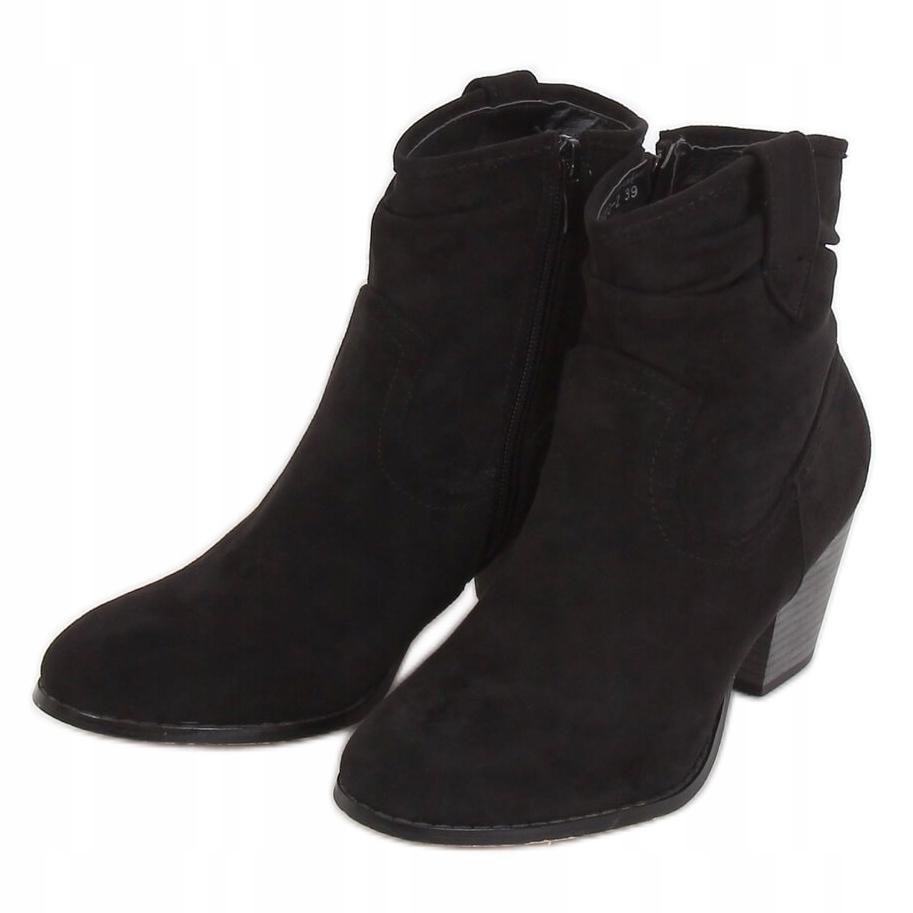 Botki obuwie damskie kobiety czarne r.38