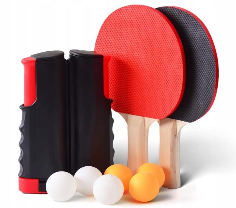 Набор для пинг-понга: сетка + ракетки + 6 мячей