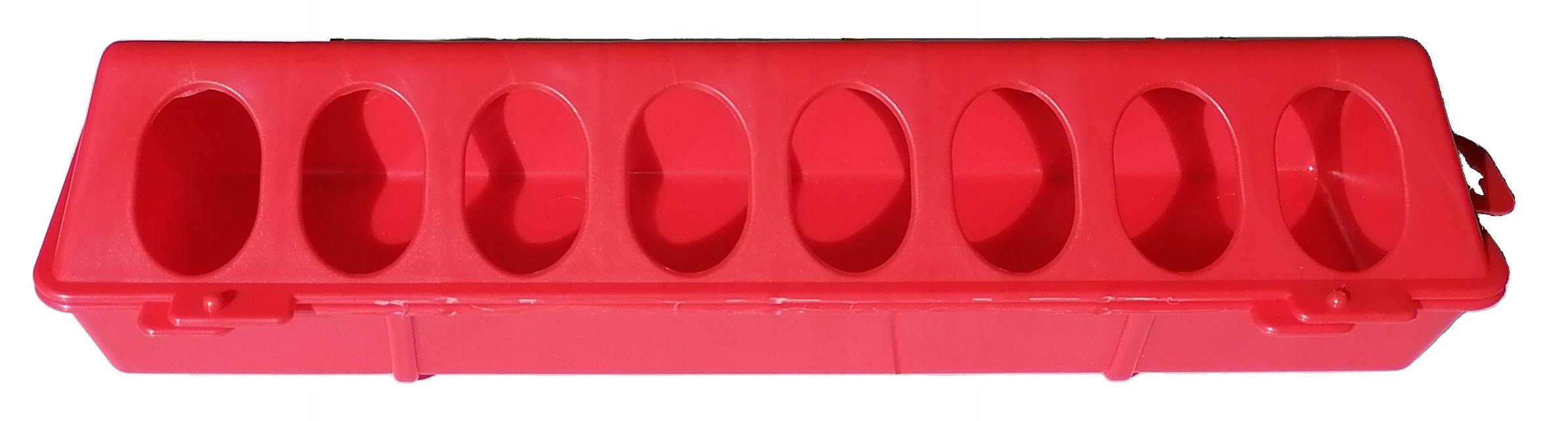 Кормушка-кормушка для цыплят 30 см красная