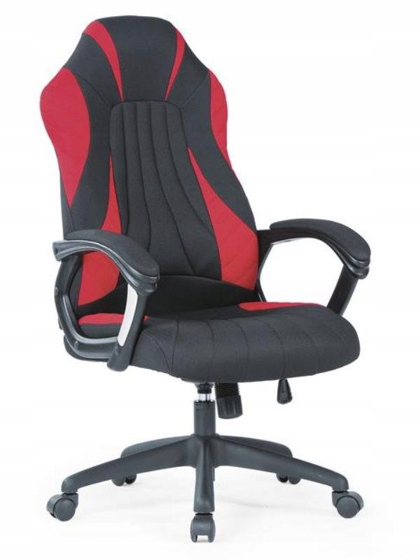 SHERIF kancelárska stolička čierna a červená TEXTÍLIE