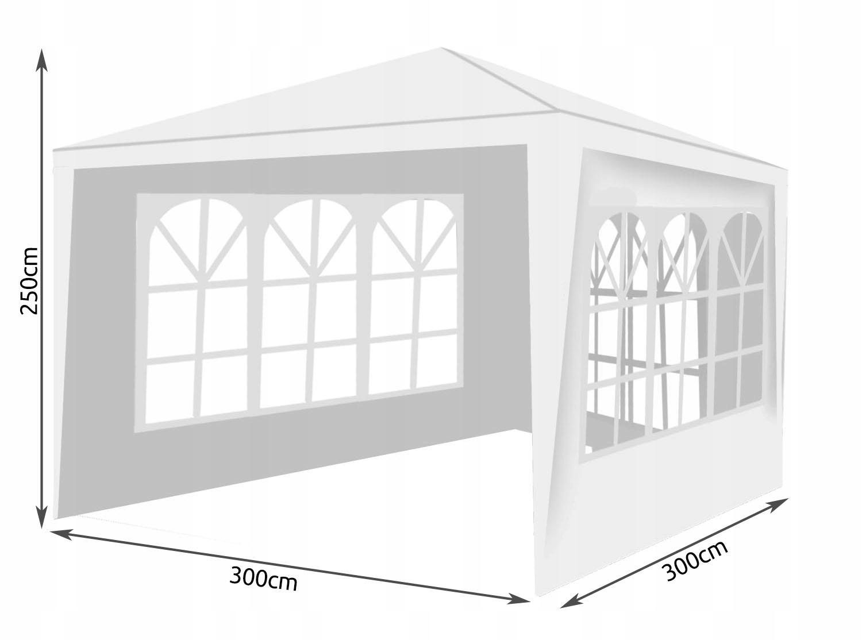Obchodný stan Záhradný pavilón + 3 steny 3x3 m. Počet bočných stien 3