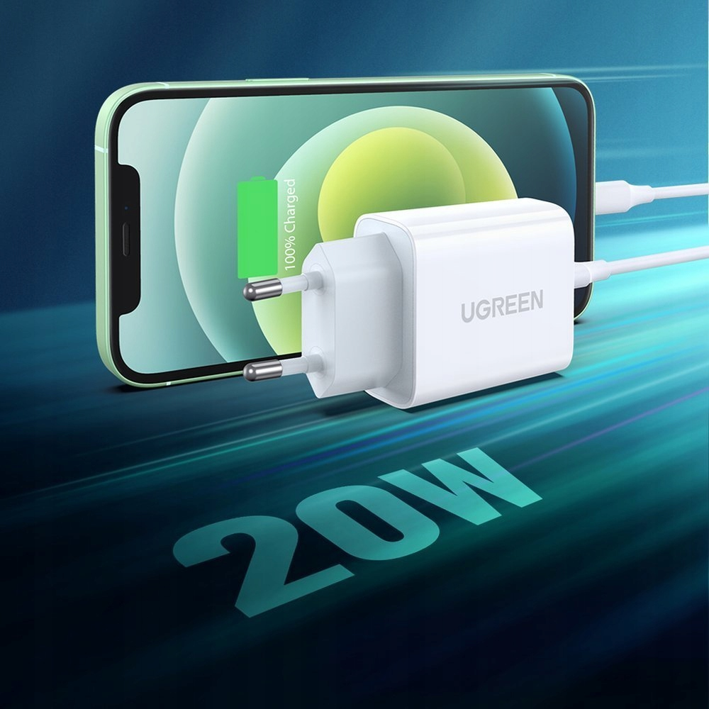 UGREEN WALL CHARGER USB PD 3.0 QC 4.0 20W 3A Scop universal