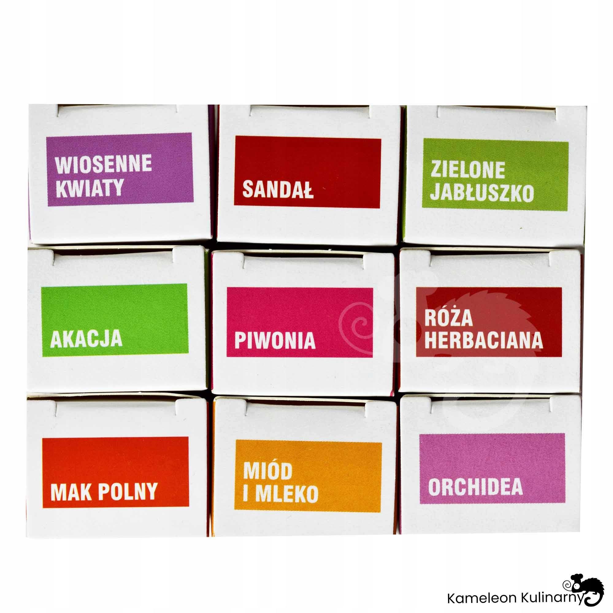 ZESTAW OLEJKÓW ZAPACHOWYCH 9szt optymistyczny Kod producenta aromaterapia olejek zapachowy ZESTAW