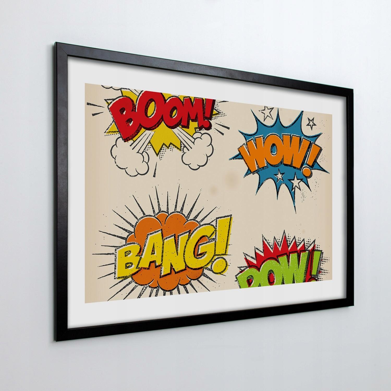 Obraz w ramie na ścianę Dymki myśli pop art 70x50