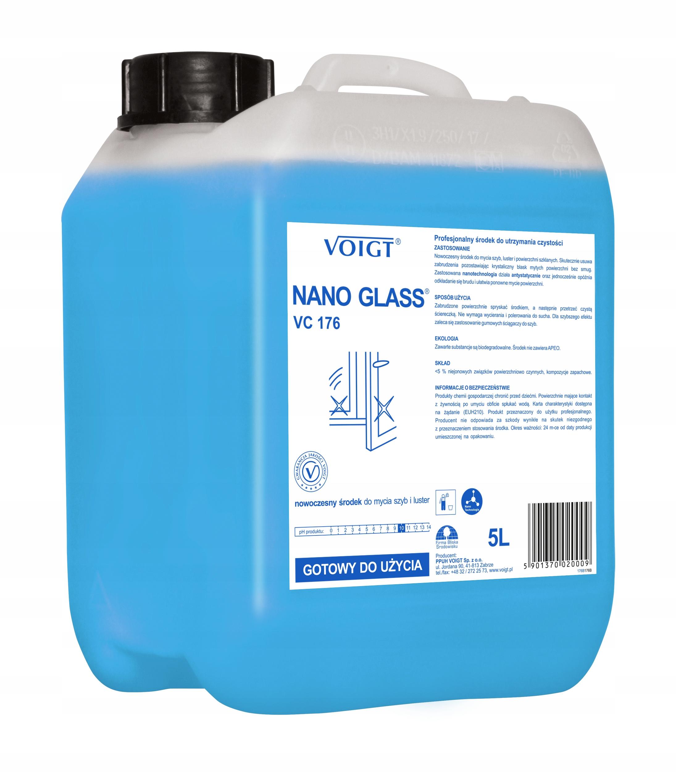 Voigt NANO GLASS VC 176 для окон и зеркал 5 литров